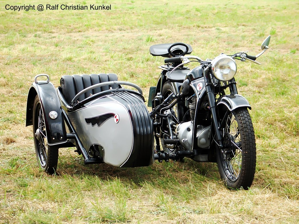 motorcycle with side car