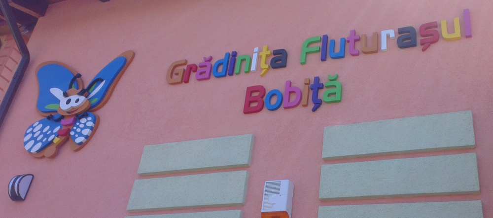 Child Care Center Romania Signs kids travel a lot
