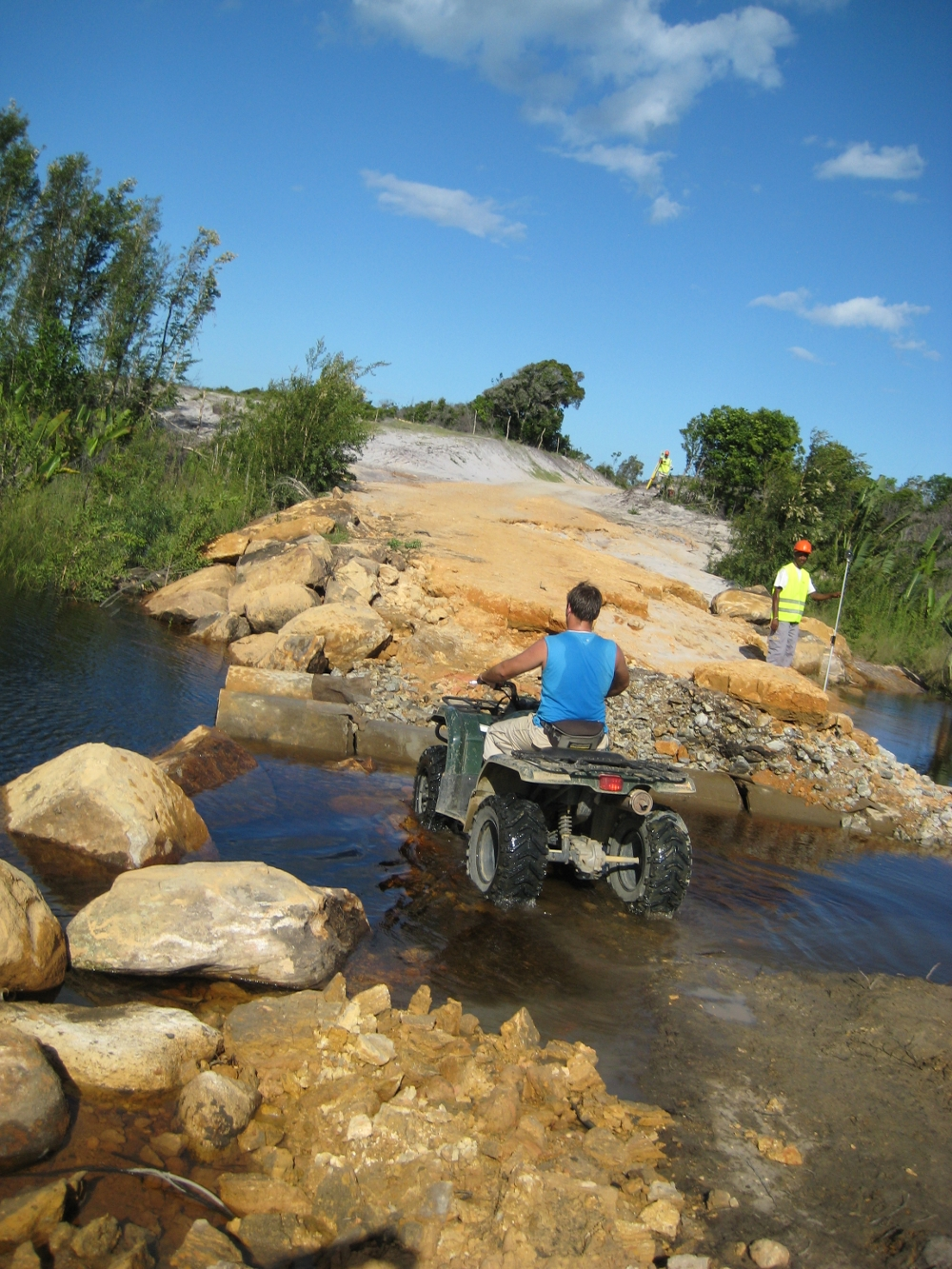 quad biking river madagascar