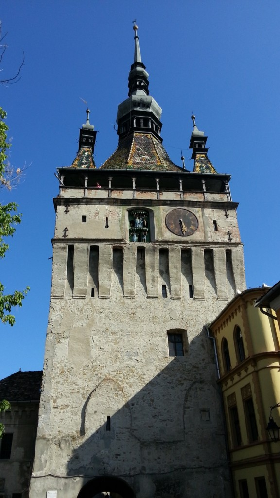 Tower Sighisoara Road trip with kids