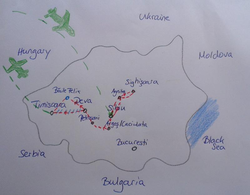 Road trip with kids through Romania