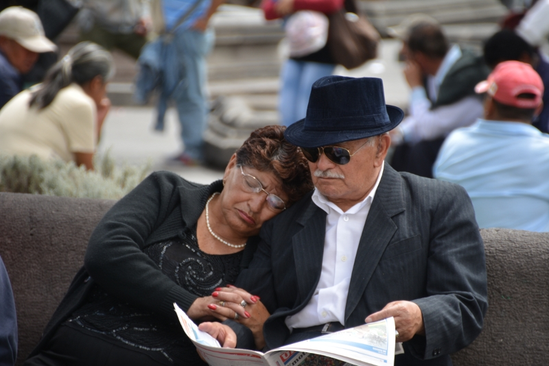 elderly couple in Quito