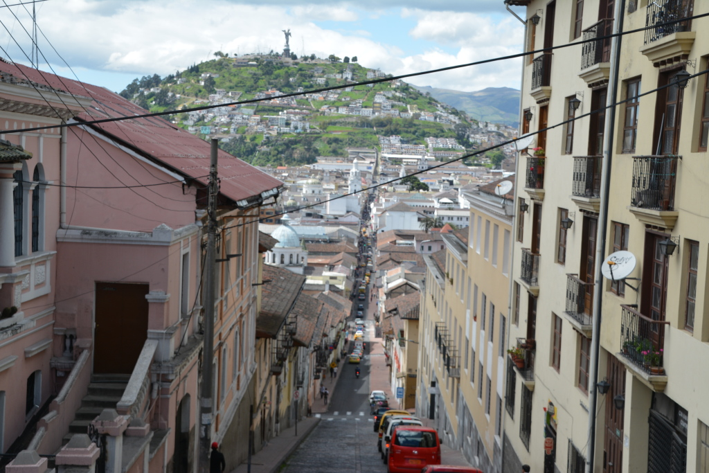 small streets in Quito