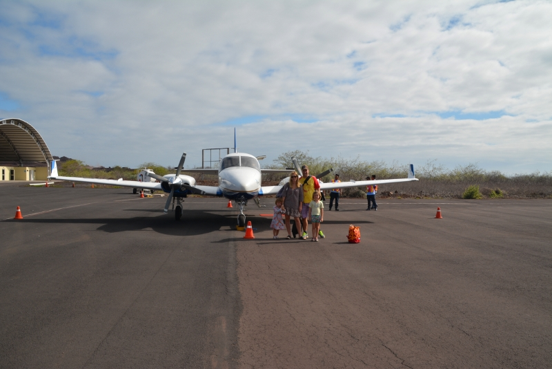 Galapagos Airline Zab connects all small islands - Copyright by Ants-in-our-pants.com