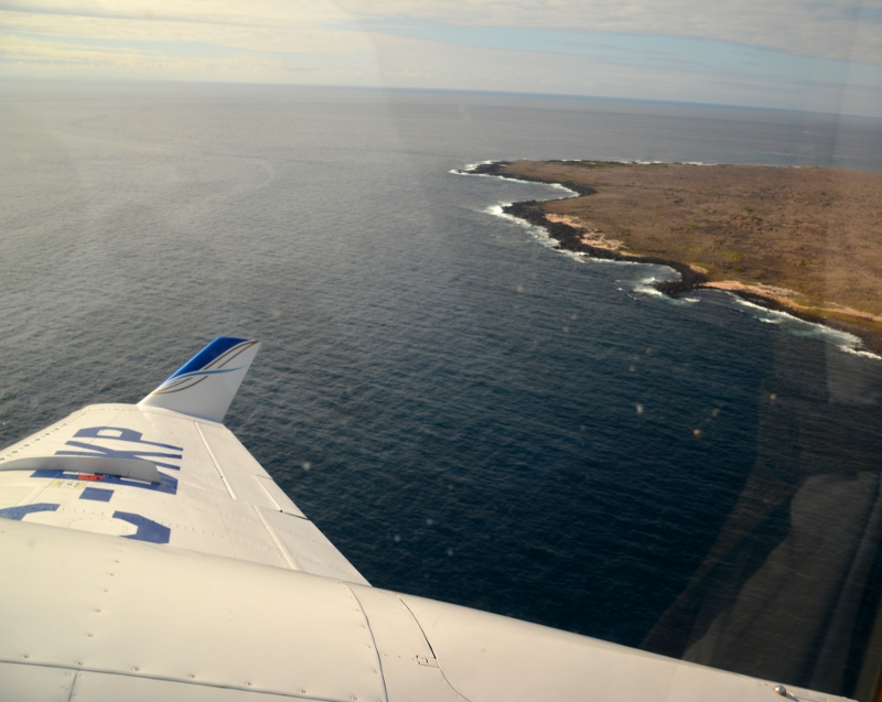 Flight from San Cristobal to Isabela - Copyright ba Ants-in-our-pants.com