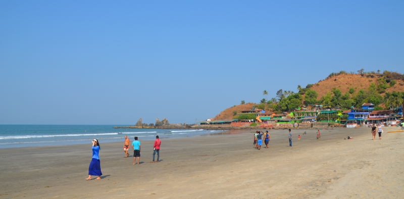 Fabulous beach in Arambol - Copyright by Ants-in-our-pants.com