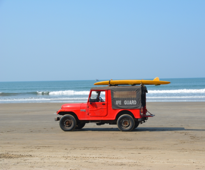 Life guards on the beach in Goa - Copyright by Ants-in-our-pants.com