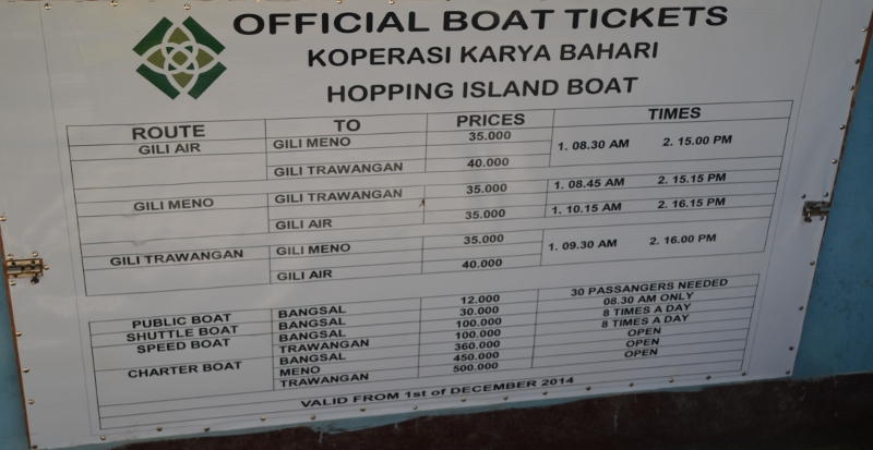 Easy to hop between the different Gili islands -  Copyright by Ants-in-our-pants.com
