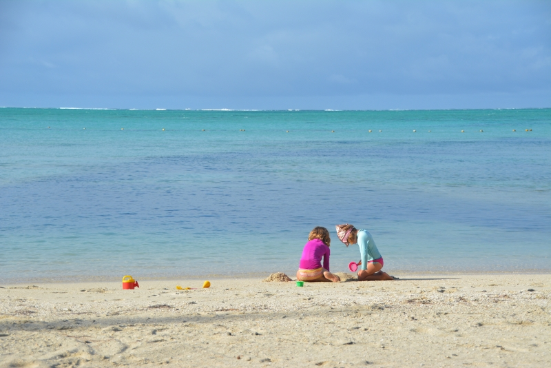 The beach of Ile aux Cerf - Copyright by www.ants-in-our-pants.com